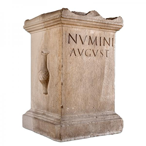 Altar dedicated to the numen of the Augustuses